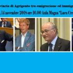 La provincia di Agrigento tra emigrazione ed immigrazione |  Agrigento, 14 novembre 2018 ore 10.00