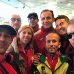 Folta rappresentativa degli atleti biancorossi alla maratona di Catania