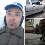 Canicattì: strade impraticabili rischio ghiaccio, diversi incidenti. Codreanu Costantin prende una sana iniziativa…buttando il sale in via C. Alberto