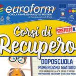 Scuola Euroform di Canicattì. Doposcuola gratuito per gli alunni della 2 e 3 media e preparazione agli esami di licenza media.