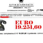 Canicattì: i telefoni del comune  tornato a squillare con soli 19.251,60… poveri si ma rintracciabili