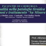 """Canicattì:  Intervista al Prof. Alfonso Maiorana, primario di chirurgia Osp. B. Lombardo . Patologia tiroidea diagnosi e trattamento """" su misura"""""""