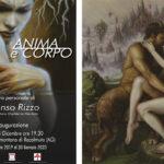 """Racalmuto: mostra personale di pittura dell'artista racalmutese Alfonso Rizzo dal titolo """"Anima e Corpo"""" a cura di Dario Orphée La Mendola"""