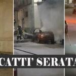 Canicattì: fuoco, fiamme e quarantena.. in un momento così drammatico, c'è chi trova il tempo per dare fuoco alle auto